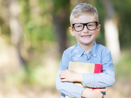 Young student excited to start school