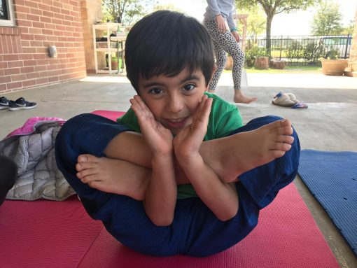 Boy on Yoga Mat