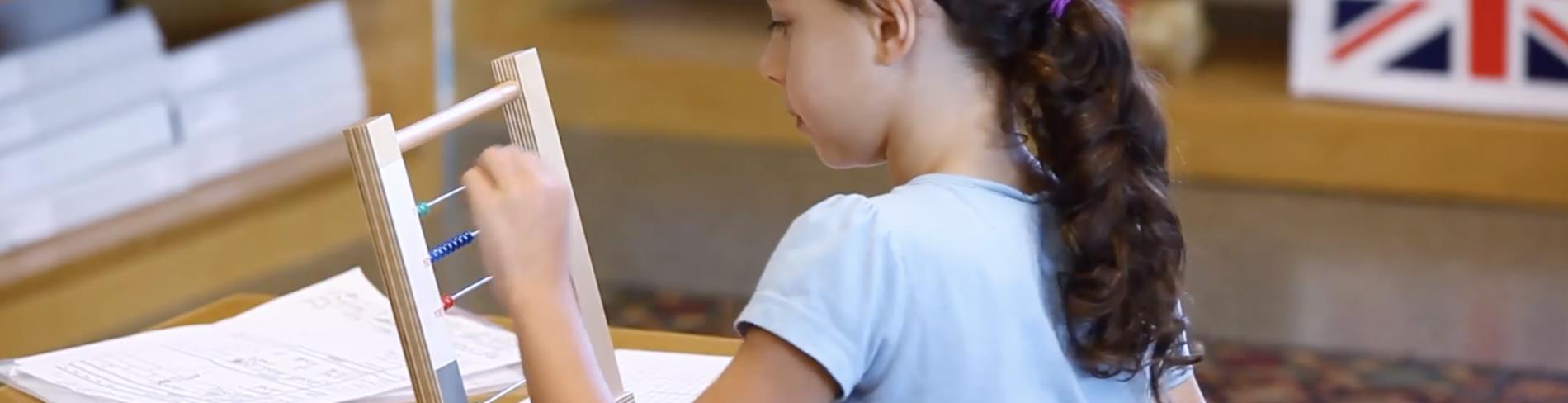 Montessori Elementary School Student