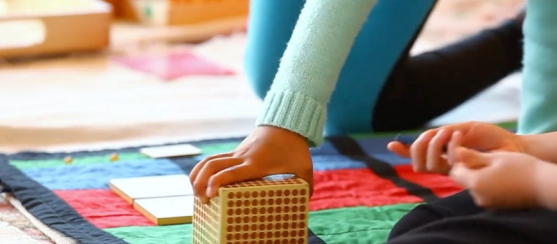 Tactile Math Lessons - Early childhood Montessori work